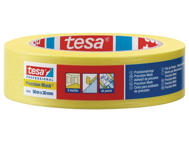 Малярная лента Tesa для идеально ровных краев (Желтая)